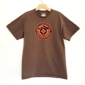 COLUMBIA Graphic Tee Short Sleeve T Shirt Brown